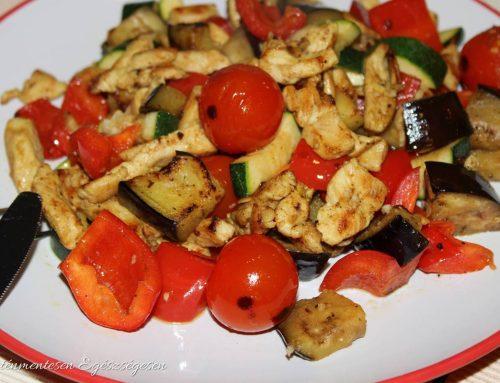 Currys cukkinis csirke