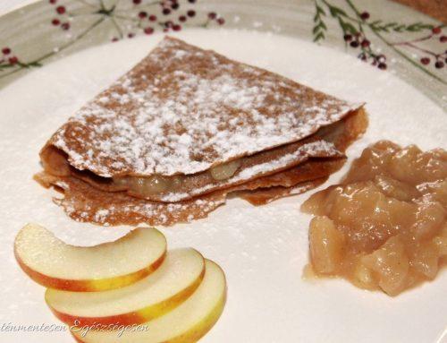 Gesztenyés palacsinta almás-banános öntettel